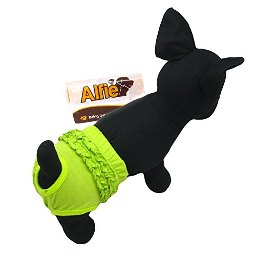 Alfie Pet by Petoga Couture - BAMI Diaper Dog Sanitary Pantie - Color: Green, Size: M (for Girl Dogs)