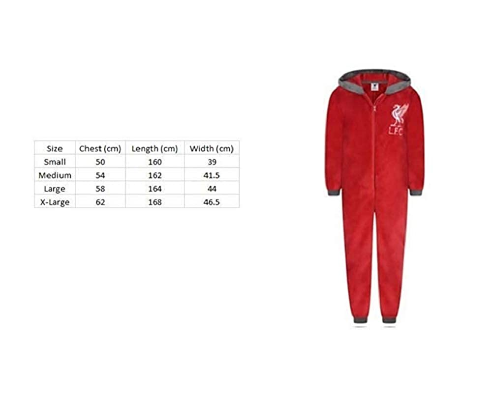 F4S/® Boys Liverpool Football Club LFC Soft Fleece Zipper Sleepsuit Onesie Romper Sizes from Ages 3-12