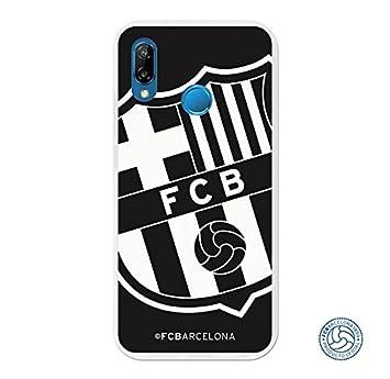 FC. Barcelona Carcasa Oficial Escudo Grande Negro Huawei P20 Lite