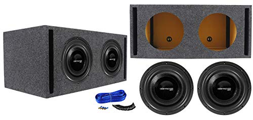 (2) Rockville Destroyer 12D1 12″ Competition Subwoofers+Vented Sub Box Enclosure