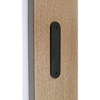 Low Profile Modern Stainless Steel Barn Door Handles For Wood Doors (Matte  Black Powder)