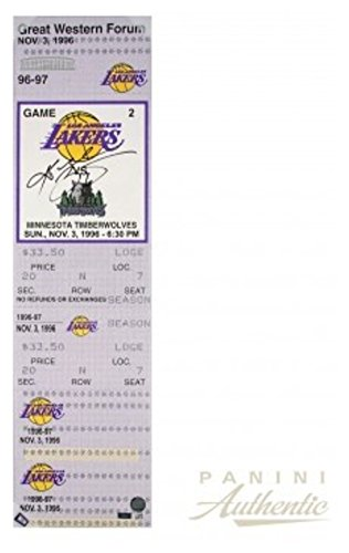 Kobe Bryant Signed Autograph Oversized Canvas Ticket From Bryant'S First Nba Game Panini Le 24 Certified Authentic