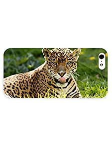 3d Full Wrap Case for iPhone 5/5s Animal Jaguar In The Grass