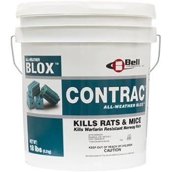 18 LB Contrac Blox Rodent Control Rodenticide Kills Mice & Rats