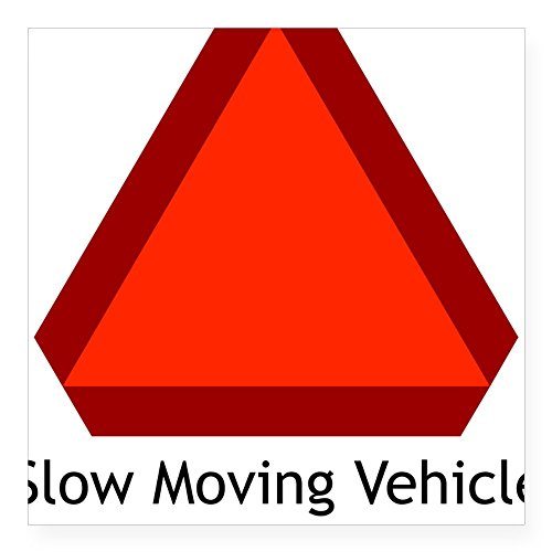 Big Slow Moving Tractor Sign : Cafepress slow moving vehicle sign rectangle sticker