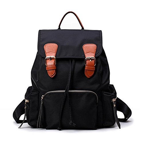 for Water Women Black Large Resistant Backpack Purse Girls Deluxe Nylon Sheli Bag School qzFxfTww