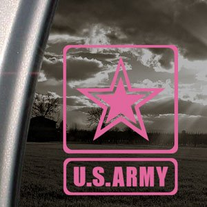 Amazoncom US ARMY Pink Decal Military Car Truck Bumper Window - Military window decals for cars