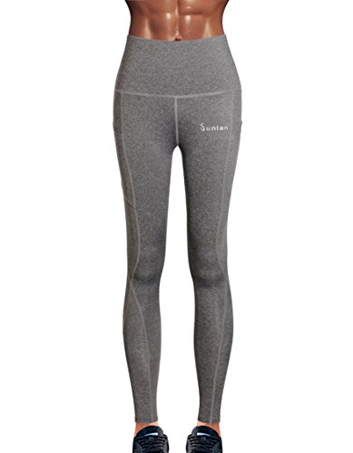 Junlan Women Workout Yoga Pants Gym Leggings Running Capri Sport Tights Exercise Clothes Fitness Wear Work Out Clothing