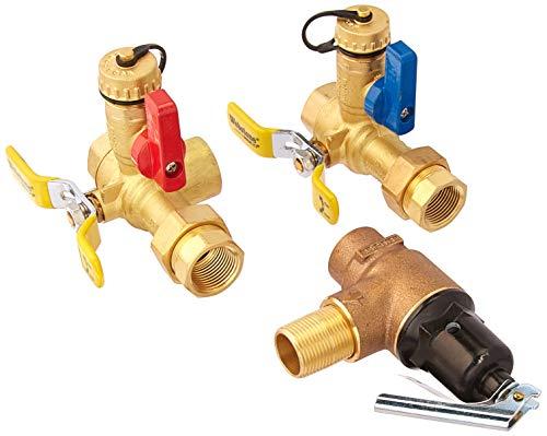 Webstone 44443WPR2 3/4 LF ISO E2 W/C-PRV 40443PR 3/4-Inch IPS Isolator EXP Tankless Water Heater Service Valve Kit