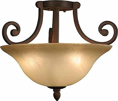 Volume Lighting Isabela 3-light Italian dusk semi-flush ceiling mount