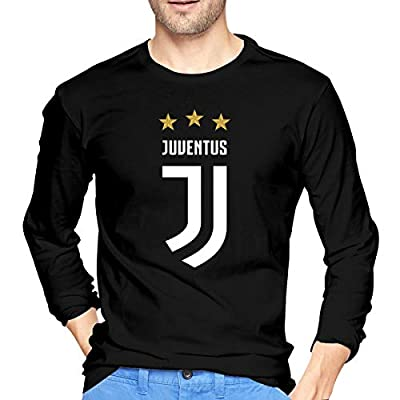BAIDAFEILI Juventus Logo 2017-2018 Men's Long Sleeve T-Shirt with Round Collar