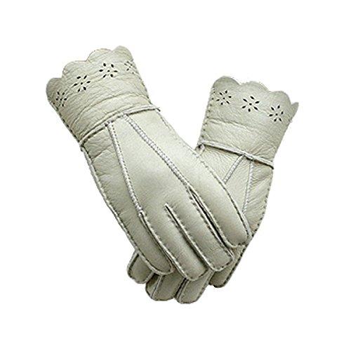性交人工メロドラマティック上質羊革使用 ラムムートン手袋(b-1507)