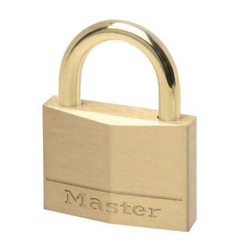 Master Lock Cadenas extérieur, acier inoxydable, 55 mm pour cave, remise, bateau, portails