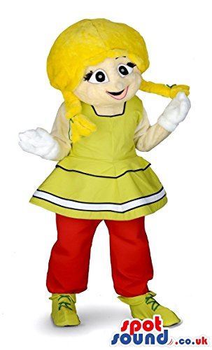 Obelix Costume (Asterix And Obelix Cartoon Blond Girl Character SPOTSOUND US Mascot Costume)