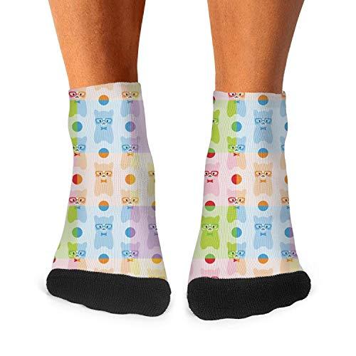 Mens Breathable Socks Colorful Cute Baby Alpaca Llama Skirt Crew Socks