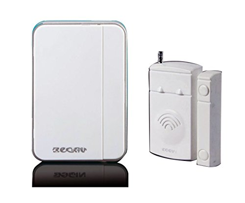 0630 Home Security Door/windows Magnetic Sensor Alarm Entry Alert Chime with Wireless Receiver White by YP