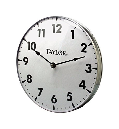 Delightful Taylor Precision Products Patio Clock (18 Inch)