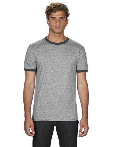 (Anvil Mens Lightweight Ringer T-Shirt (988AN) -H GR TR H -M)