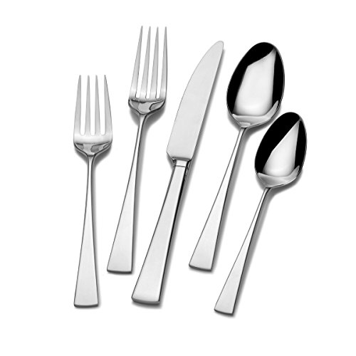 Mikasa Lucia 20-Piece Stainless Steel Flatware Set, Service for 4