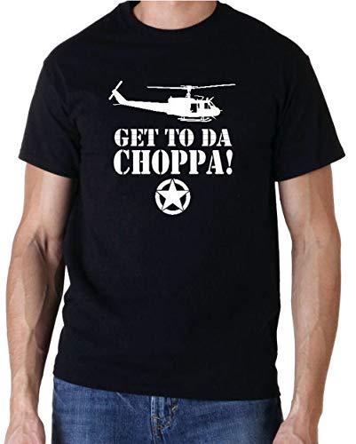 Get to da Choppa Arnie Predator 80s Movie T Shirt