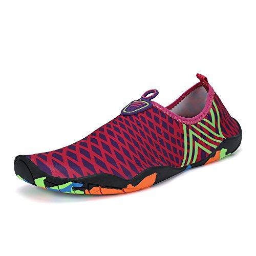 b3262e7b74fe SAGUARO Men Women Quick-Dry Water Shoes Thick Sole Skin Aqua Socks Barefoot  For Beach