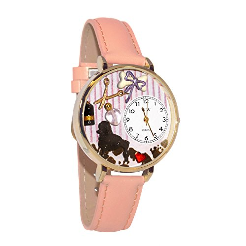Whimsical Watches Women's G0630007 Dog Groomer Pink Leather Watch