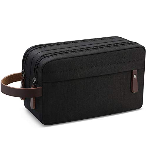 - Men's Travel Toiletry Organizer Bag Water-resistant Shaving Dopp Kit Bathroom Bag (Black Water-resistant)
