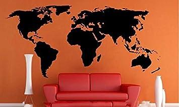 Pegatina Vinilo XXL 2.00 m x 0.90 cm. Mapa Mundi Decoracion Pared o Cristal dormitorios Salones caravanas escaparates, cafeterias agencias Viajes cabeceros de CHPYHOME: Amazon.es: Coche y moto