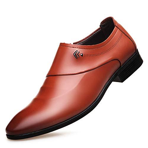 WFL Scarpe da uomo scarpe da uomo estate scarpe da ginnastica a punta di piedi vestito da uomo d'affari scarpe casual da uomo Marrone