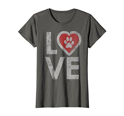 b6dae4b060b1 Womens Love My Rescue Dog Tee Shirt for Women, Men and Kids XL Asphalt