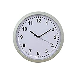 DIY Wall Clock,Wall Clock Hidden Safe Clock Safe Secret Safes Hidden Safe Wall Clock for Secret Stash Money Cash Jewelry,25x25x7cm (White)