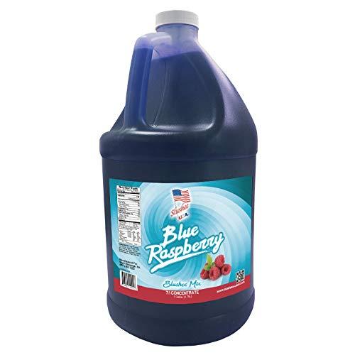 (Blue Raspberry Slushie Mix -1 Gallon - 128 oz (yields approximately 96-12oz servings) Mixing Ratio 7 (Water) to 1 (Product)