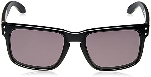 Oakley Holbrook Sunglasses 57MM Matte Black Frame/Warm Grey Lens