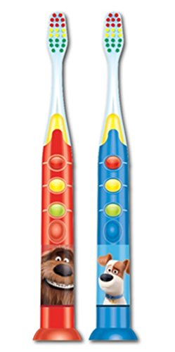 Firefly Secret Life of Pets Ready Go Light-up Kids Toothbrush, Soft, 1-Count
