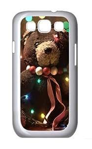 Adorable Teddy Bear Custom Hard Back Case Samsung Galaxy S3 SIII I9300 Case Cover - Polycarbonate - White