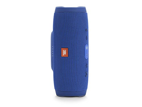 JBL Charge 3 Waterproof Bluetooth Speaker -Blue (Renewed)
