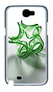 3D Green Crystals Custom Designer Samsung Galaxy Note 2/Note II / N7100 Case Cover - Polycarbonate - White