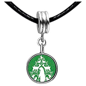 Chicforest Silver Plated christmas tree Photo Emerald Green Crystal May Birthstone Flower dangle Charm Beads Fits Pandora Charm Bracelet