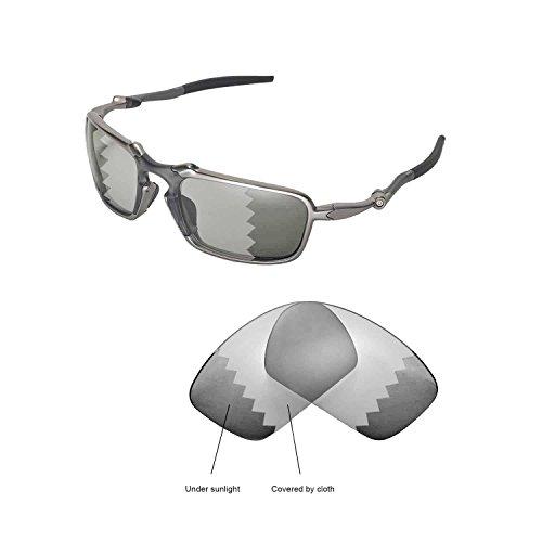 4c1ec7b6c1 Galleon - Walleva Replacement Lenses Oakley Badman Sunglasses - Multiple  Options Available (Transition photochromic - Polarized)