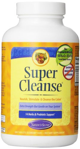(Nature's Secret Super Cleanse Herbal Supplement Tablets, 200)