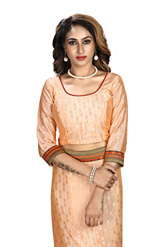 Shonaya-Womens-Embroidered-Faux-georgette-Peach-Designer-Saree-With-Unstitched-Blouse-Piece