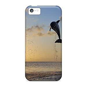 Defender Cases With Nice Appearance (dolphins In Bay Islands) For Iphone 5c