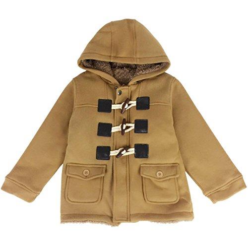 Jastore Unisex Baby Boys Girls Winter Warm Hooded Coat Children Outerwear Jacket (3T, Brown)