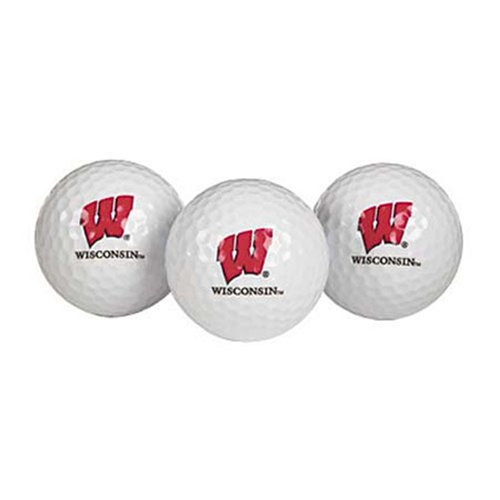 Team Effort Wisconsin Badgers Golf Ball 3 Pack by Team Effort