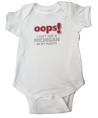Amazon Com Ohio State Infant Quot Oops Quot Onesie 12 Months