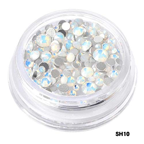Nail Decoration Kits - 1Box Mini Stainless Steel Nail Caviar Beads Metal Studs Mix Size Crystal Rhinestones For Nails Mermaid Pearl Crystal Nail Jewelry Nail Art Decorations - Shaped 10 ()