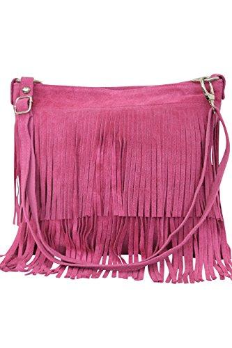 Scrub Ambra con Borsa da Wl809 pelle rosa in Fashion donna scamosciata COqxzwCS
