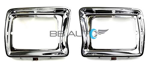 - OE Replacement New Chrome Headlight Bezels Trim Set Direct Replacement for 1978-1979 Ford F150 Truck (Partslink Number FO2512114, FO2513115)