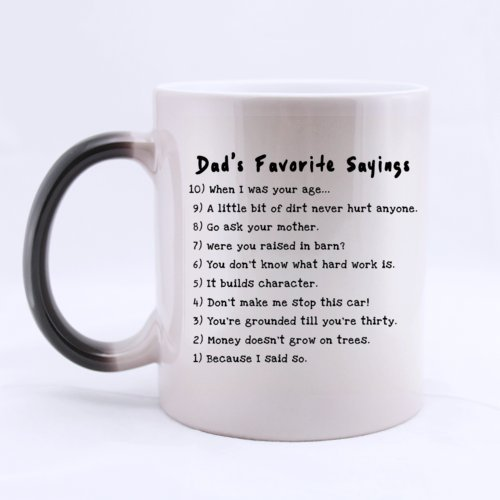 funny mug dads favorite saying heat color changing mug magic coffee mug ceramic11 oz