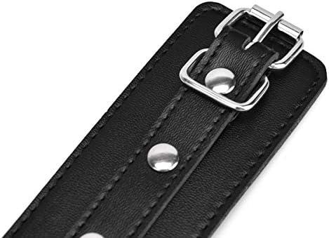 Healifty Erwachsene Beinmanschetten Bettmanschetten Handschellen Handgelenk- und Fußfesseln für Frauen Männer (Schwarz)